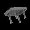 SupR®  Hegesztőasztal 2400 x 1400 x 8 mm d 16 rendszer furattal, 6 db lábbal