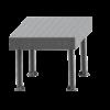 SupR®  Hegesztőasztal 2400 x 1000 x 8 mm d 16 rendszer furattal, 6 db lábbal