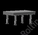 SupR®  Hegesztőasztal 1500 x 1000 x 8 mm Ø 16 rendszer furattal, 4 db lábbal