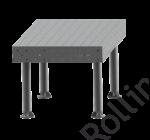 SupR®  Hegesztőasztal 1000 x 1000 x 6 mm Ø 16 rendszer furattal, 4 db lábbal