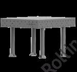 SupR®  Hegesztőasztal 1000 x 1000 x 8 mm Ø 16 rendszer furattal, 4 db lábbal