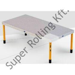 Demmeler 3D hegesztőasztal, 16-os rendszer PL 2400x1200x100, állítható lábbal
