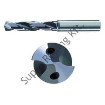 Keményfém belsõ hűtésű csigafúró,  Ø4- 6 mm-ig
