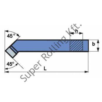 Hajlított esztergakés, forrasztottlapkás, ISO2 P30J 20x20