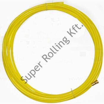 Huzalvezető teflon 1,4-1,6 mm - 4m sárga