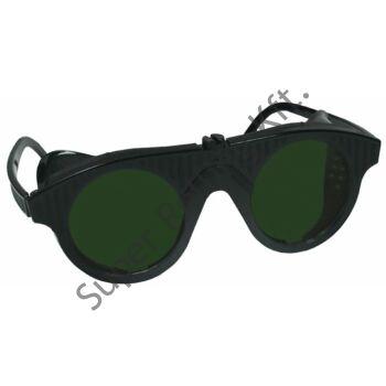 Lángheg. DIN5 védőszemüveg műanyag fekete