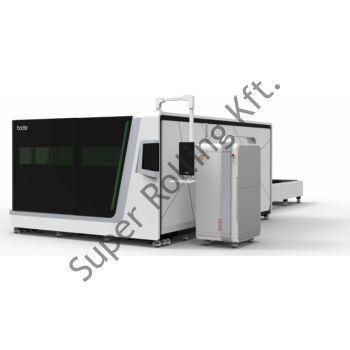BODOR P3015 CNC fiber lézervágó palettacserélővel (3000W, IPG, 1500x3000mm asztal)