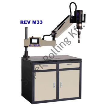 Elektromos menetfúrógép GOTAP  (M8-M33) 0-156 RPM 230V 50HZ 1200W 265,7Nm