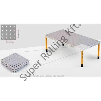 Hegesztőasztal Demmeler System 16 PE50x50, 1200x800x100 DEMONT 760 M lábak NÉLKÜL