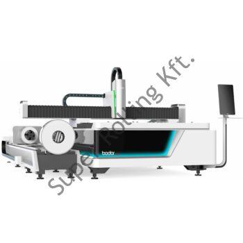 BODOR F3015T6 kombinált CNC fiber lézervágó, 1.500W IPG, 6m száladagoló