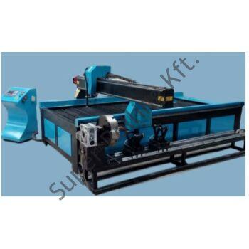 SupR® CNC plazmavágógép 3000x1500, plazmaforrással, csővágó modullal d200/3000mm