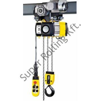 YALE VEGO CPVF 20-4-VTE (2 tonnás) láncos emelő, elektromos meghajtású futómacskával szerelve