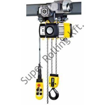 YALE VEGO CPVF 50-4-VTE (5 tonnás) láncos emelő, elektromos meghajtású futómacskával szerelve