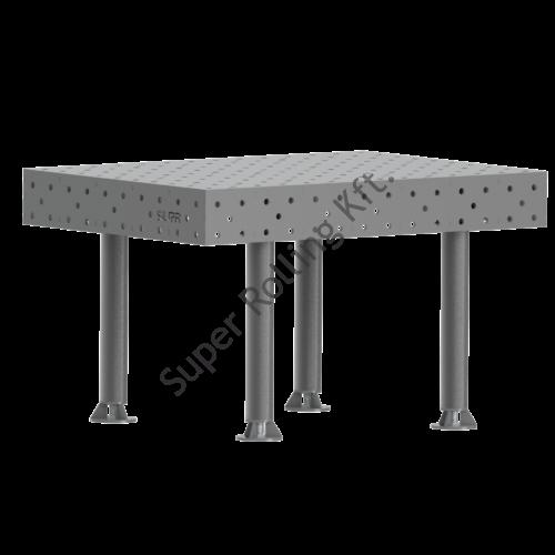 SupR®  Hegesztőasztal 1400 x 1400 x 8 mm d 16 rendszer furattal, 4 db lábbal