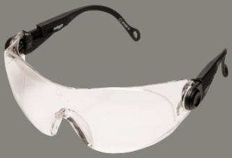 Contoured ultrakönnyű polikarbonát védőszemüveg, víztiszta